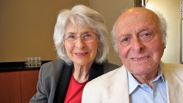 """Buddy and Gerti Elias are touring the United States reading from the book """"Anne Frank's Family."""""""