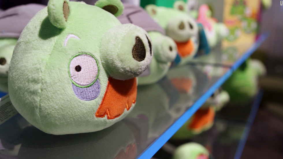 Thirty percent of Rovio's revenue comes from products like stuffed toys of the characters in their games. Merchandise inspired by the game ranges from clothing and cookbooks to theme parks and beyond.
