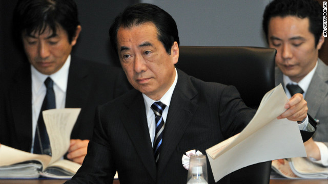 Former Japanese prime minister Naoto Kan speaks at a parliamentary commission in Tokyo on May 28, 2012.