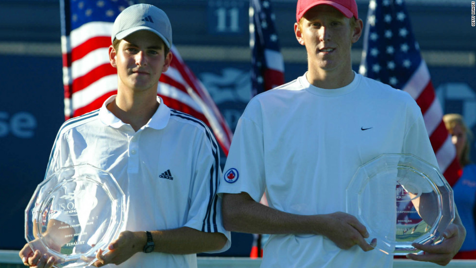 The previous year Baker won the U.S. Open junior boys' doubles title with Chris Guccione at Flushing Meadows in New York -- the venue where he would later spring to prominence.