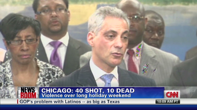 40 shot, 10 dead after holiday weekend