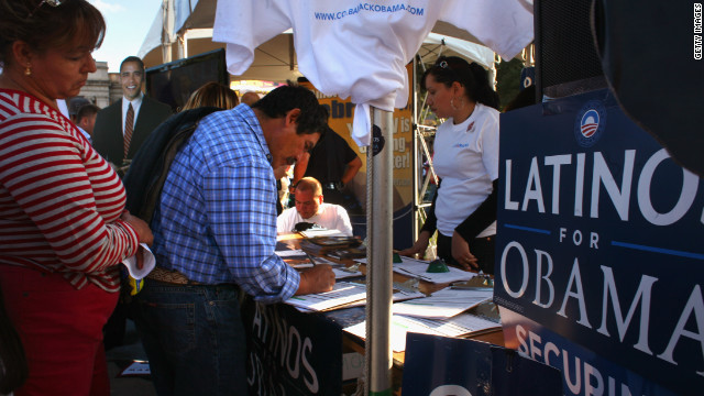 Latinos turned out to support Barack Obama in 2008.