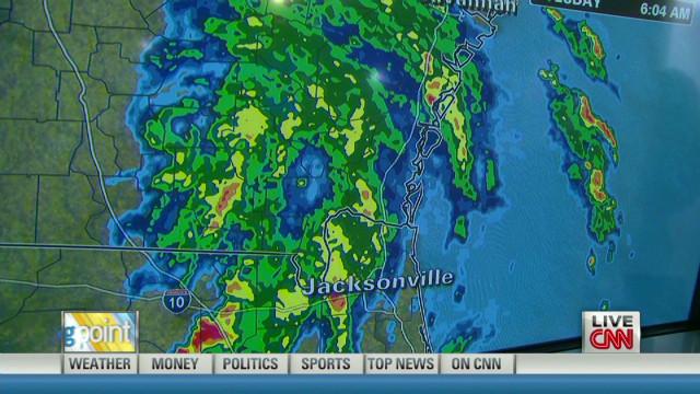 Tropical Depression Beryl is still spinning.
