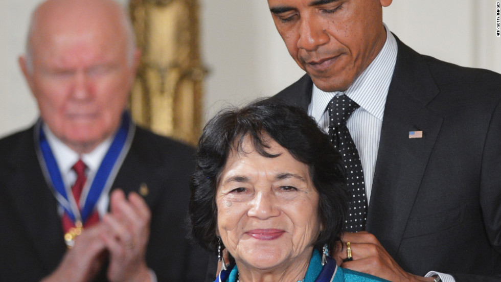 Dolores Huerta is a civil rights, workers and women's advocate. With Cesar Chavez, she co-founded the National Farmworkers Association in 1962, which later became the United Farm Workers of America. Huerta has served as a community activist and a political organizer and was influential in securing the passage of California's Agricultural Labor Relations Act of 1975 and disability insurance for farm workers in California.
