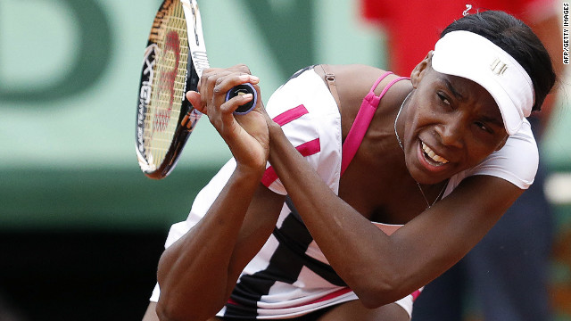 Venus Williams followed her sister Serena out of the French Open tournament on Wednesday