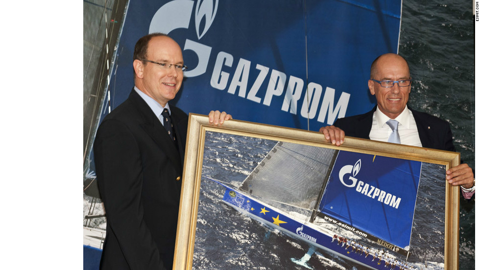 "Igor Simcic (right) is the Slovenian businessman who founded the ""Esimit"" project in 1995. Here he is pictured with Prince Albert of Monaco receiving the ""Yacht Club de Monaco"" membership in 2011."