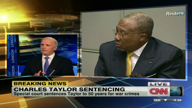 Understanding Charles Taylor's sentence