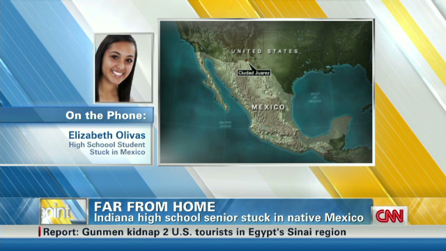 Indiana student stuck in native Mexico