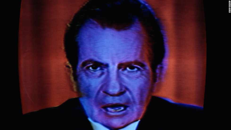 "<strong>Richard Nixon</strong>, who resigned as president after the Watergate scandal, famously said during a 1973 press conference:  ""In all of my years in public life, I have never obstructed justice. ... People have got to know whether or not their president is a crook. <a href=""http://www.youtube.com/watch?v=sh163n1lJ4M"" target=""_blank"">Well, I'm not a crook</a>."""