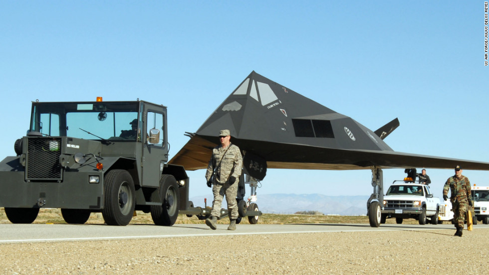 The region surrounding California's Edwards Air Force Base north of Los Angeles has served to develop and test so many aircraft it's been dubbed the Aerospace Capital of America. This stealthy F-117 Nighthawk was decommissioned in 2008.