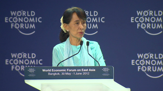 Suu Kyi asks people to invest in Myanmar
