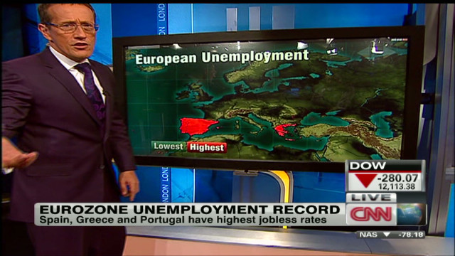 Eurozone unemployment hits record high