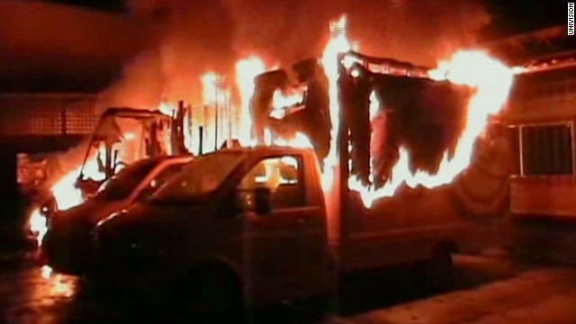 The 29-year-old driver whose snack truck was set afire suffered burns over 70% of his body, officials said.