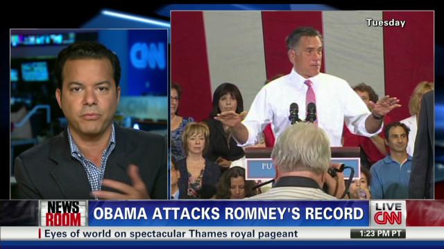 Obama attacks Romney's record