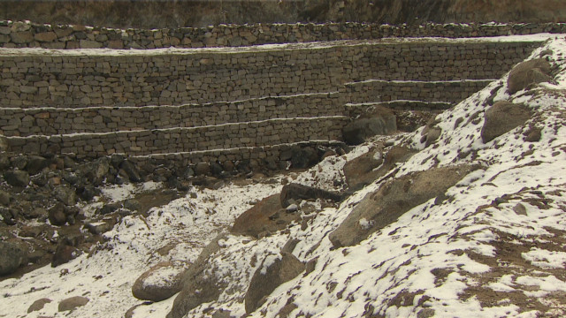 Man creates glaciers to save village