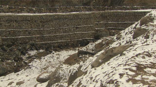 Man creates glaciers to save village