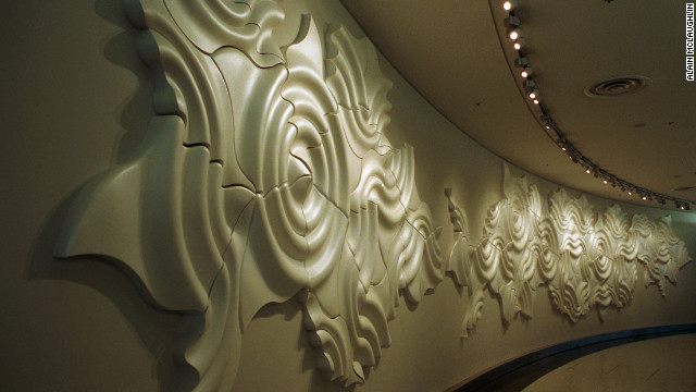 An art installation in Boarding Area A of San Francisco International Airport.