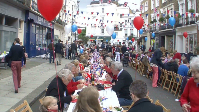Jubilee street party celebrations