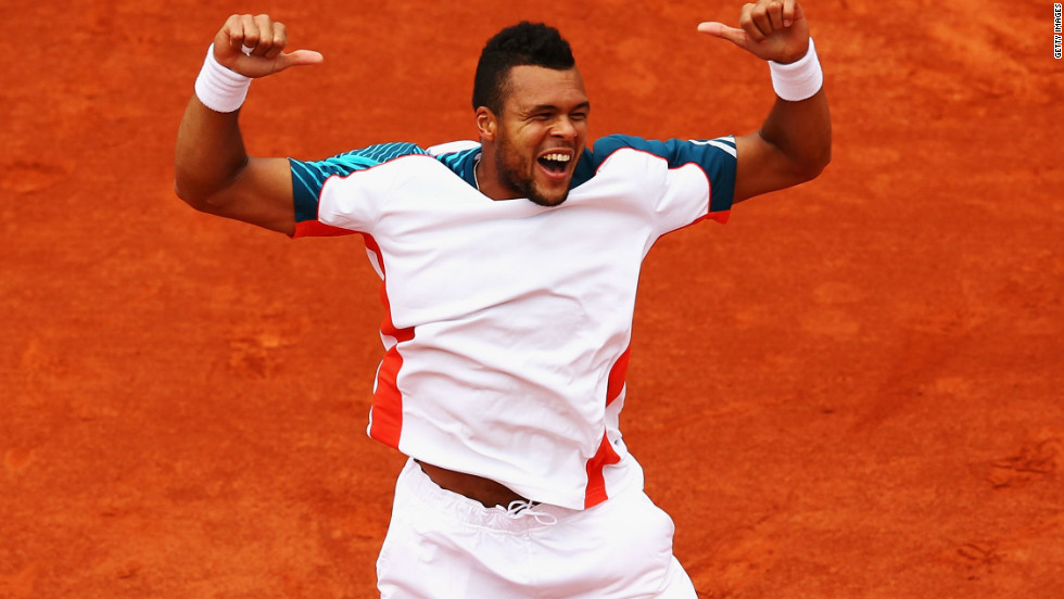 Jo-Wilfried Tsonga is France's only remaining title hope, with the fifth seed to face world No. 1 Novak Djokovic in his first quarterfinal appearance at Roland Garros.