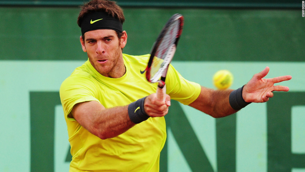 Argentina's Juan Martin Del Potro earned a rematch against third seed Roger Federer, who beat him in the 2009 semifinals before winning the Paris crown for the first time.