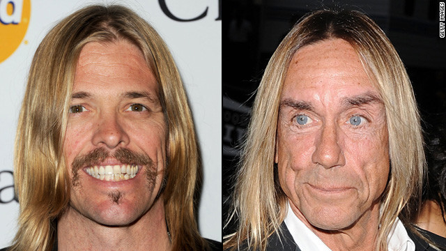 Taylor Hawkins was cast in part because he somewhat resembles the Stooges rocker Iggy Pop in his prime.
