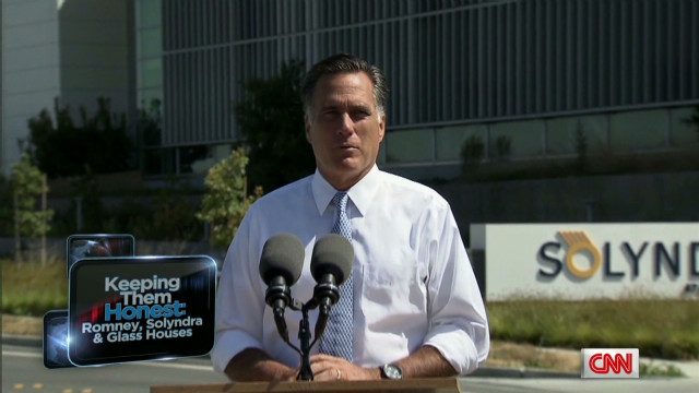 Romney accused of hypocrisy for Solyndra