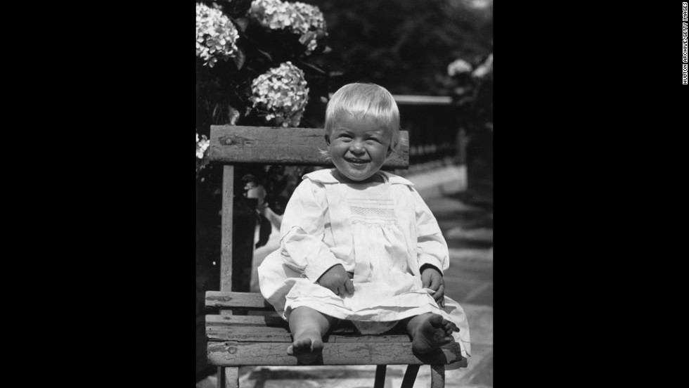 July 1922: Prince Philip of Greece as a toddler.