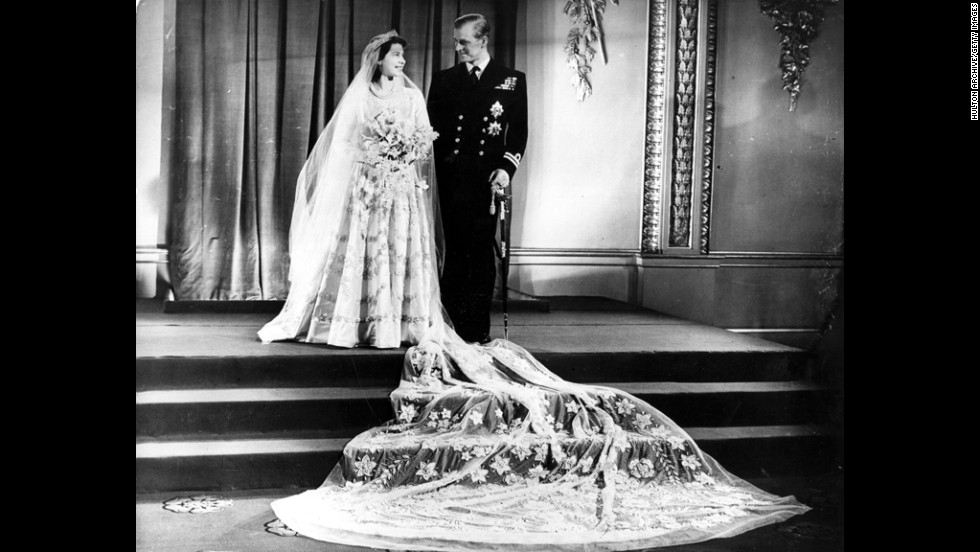 November 20, 1947:  Prince Philip and Princess Elizabeth at Buckingham Palace after their wedding.