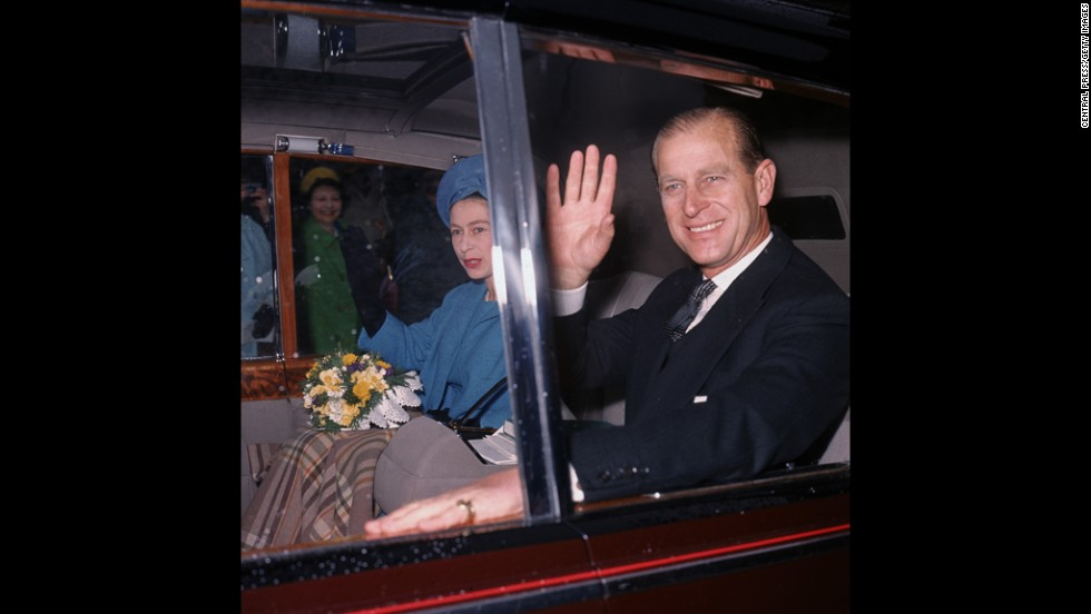April 7, 1966: Queen Elizabeth II and Prince Philip leave Westminster Abbey after the annual Maundy ceremony.