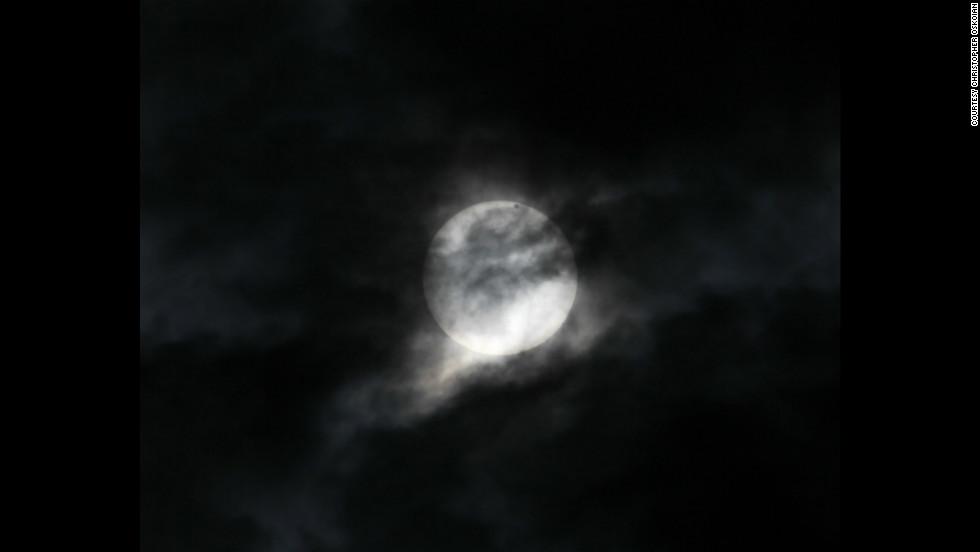 CNN iReporter Christopher Oskoian snapped this shot of Venus in transit from Flint, Michigan.