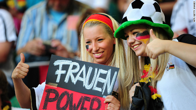 Female fan-power on rise in Germany and Italy as Euro 2012 ...