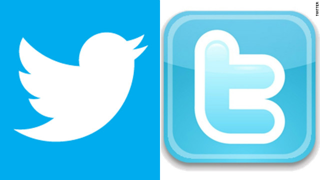 "As of Wednesday, Twitter is replacing its old bird logo (and lower-case ""t"") with a sleeker new bird, left."