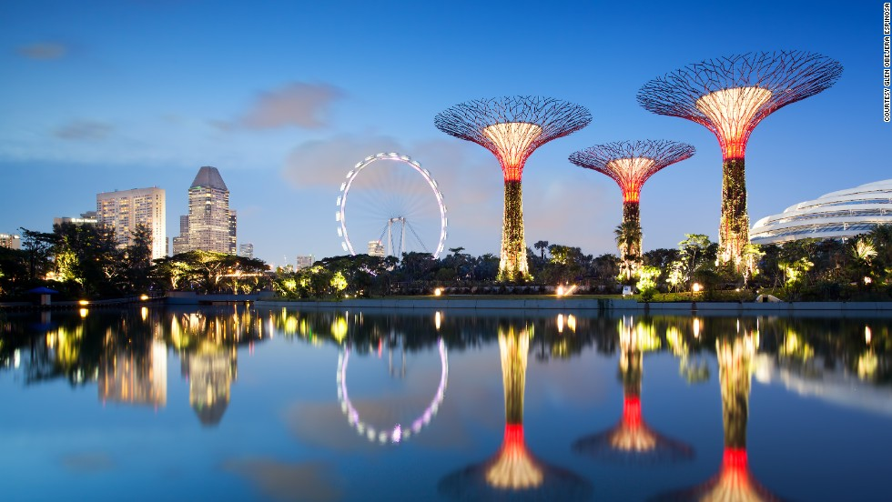 Singapore's 250-acre green development, Gardens by the Bay, is part of Singapore's redevelopment and new downtown area at Marina Bay. It features three waterfront gardens -- Bay East, Bay Central and Bay South, which opens to the public on June 29.