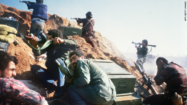 Pro-Syrian militiamen fires at Muslim Sunni islamists 12 November 1985 in the northern city of Tripoli.