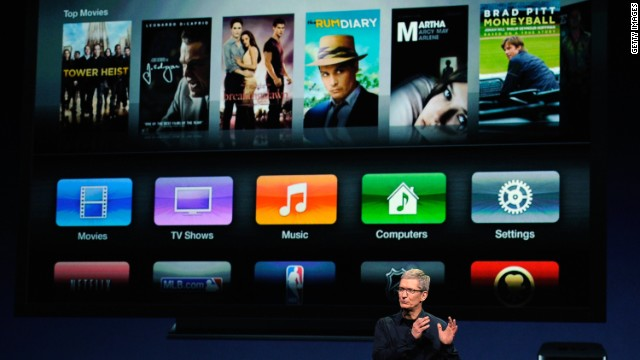 Apple CEO Tim Cook speaks during an event in March, when Apple introduced the third version of the iPad.