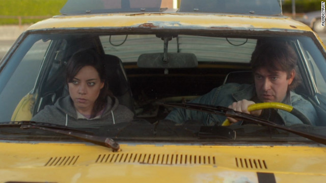 "Aubrey Plaza and Mark Duplass star in ""Safety Not Guaranteed."""