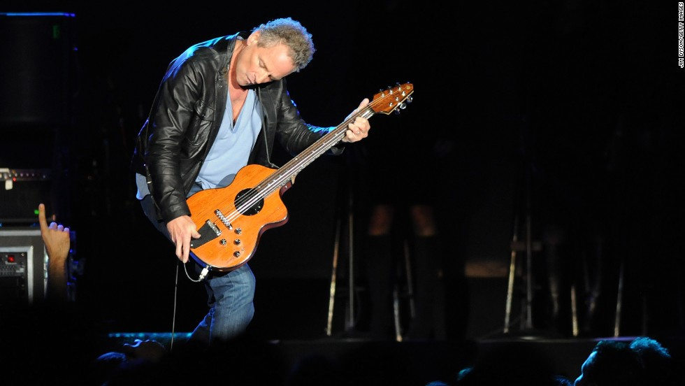 "Lindsey Buckingham plays during on the 2009 ""Unleashed"" Fleetwood Mac tour. Buckingham was the lead singer from 1975 to 1987, and form 1997 to present day."
