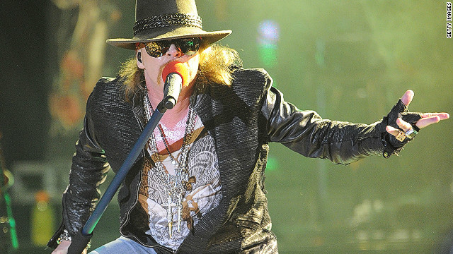 Axl Rose of Guns N' Roses performs at the Hollywood Palladium on March 9, 2012 in Hollywood, California.