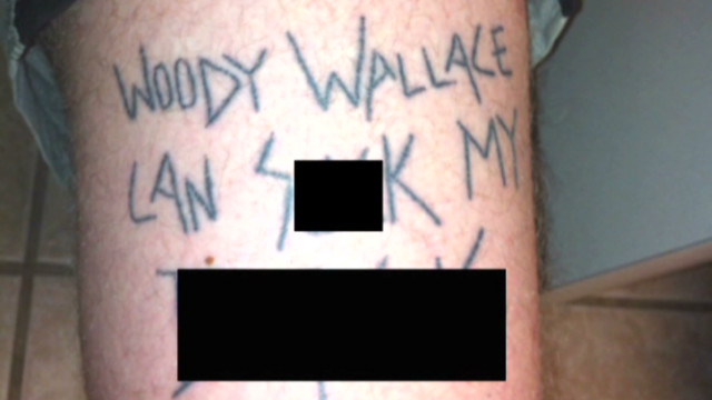 Vulgar tattoo amuses targeted cop