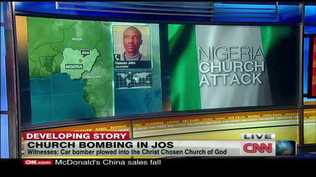 5 killed in Nigerian church blast