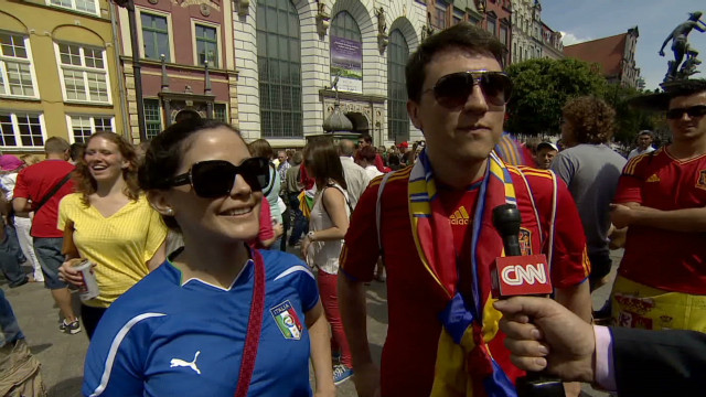 Fan reaction to Spain, Italy draw