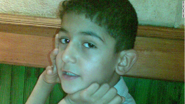 Human rights groups say 11 year-old Ali Hassan was detained by Bahraini police on May 14, 2012.