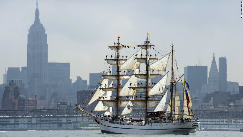 "The first major tall ship event of the year was ""Fleet Week"" in New York City.  The event saw an international fleet of tall ships invade Manhattan's harbor, including the beautiful ""ARC Gloria"" from Colombia."