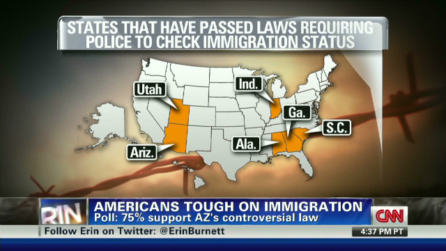 Poll: most support AZ immigration law