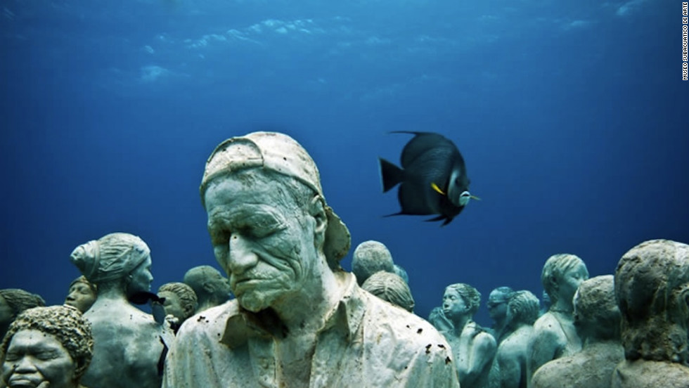 The Museo Subacuatico de Arte (otherwise known as the Cancun Underwater Museum) is an underwater museum with no walls, guides or descriptive plaques.