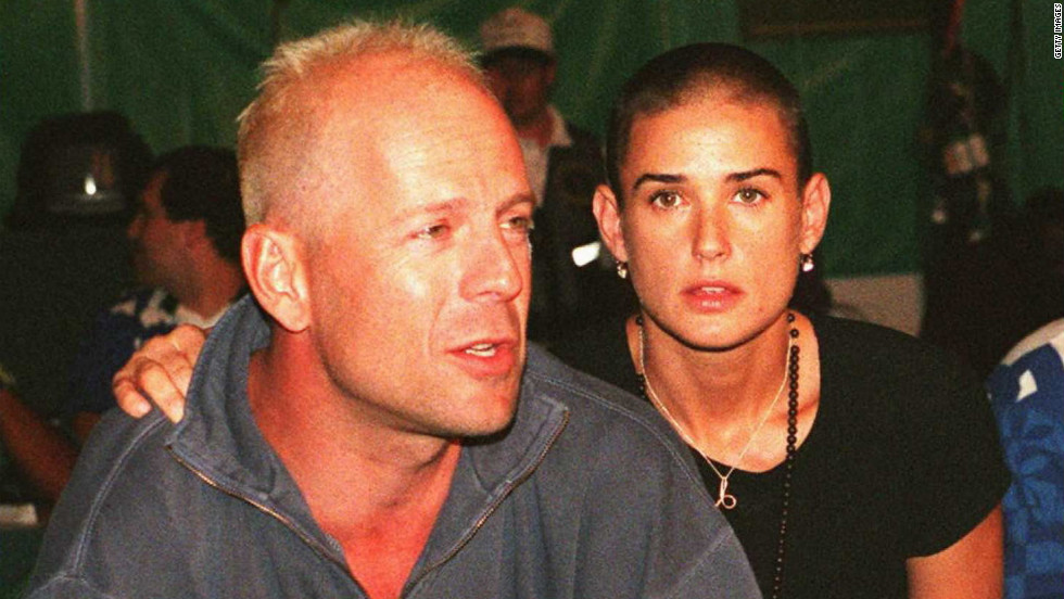 "Demi Moore shaved her head for her role as Jordan O'Neill in 1997's ""G.I. Jane."""
