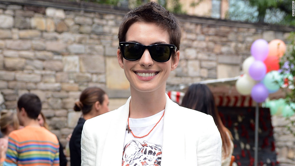 "Anne Hathaway shaved her long brown locks for her role as Fantine in Tom Hooper's<a href=""http://marquee.blogs.cnn.com/2012/05/30/watch-teaser-trailer-for-les-miserables/"" target=""_blank""> ""Les Miserables,""</a> due in December."
