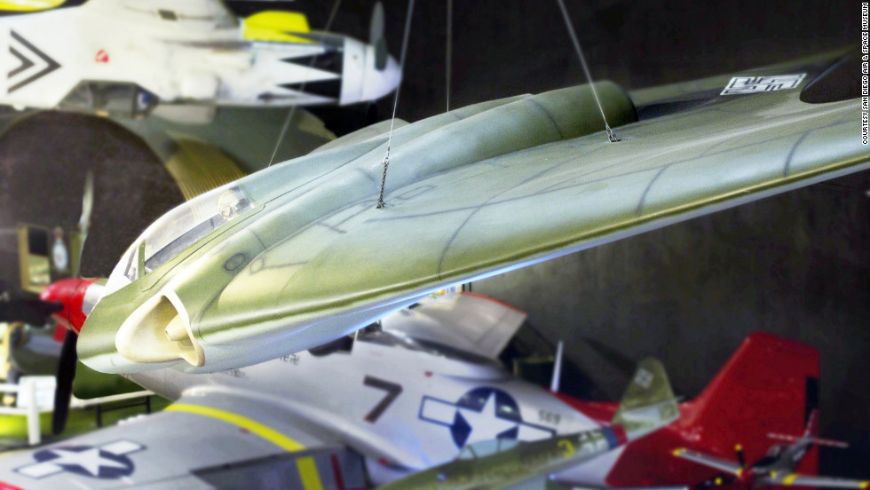 "Nazi Germany's Horten 229 V3 was ""the first pure flying wing powered by a turbojet,"" according to the museum. It also was the ""first aircraft designed to incorporate what became known as stealth technology."" The museum's exhibit is a full-scale replica built by Northrop Grumman from original plans."