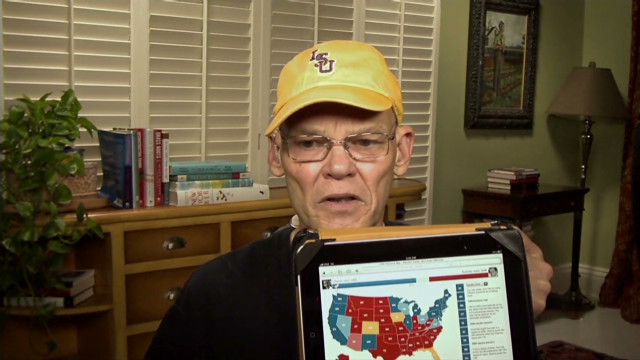 James Carville's electoral map