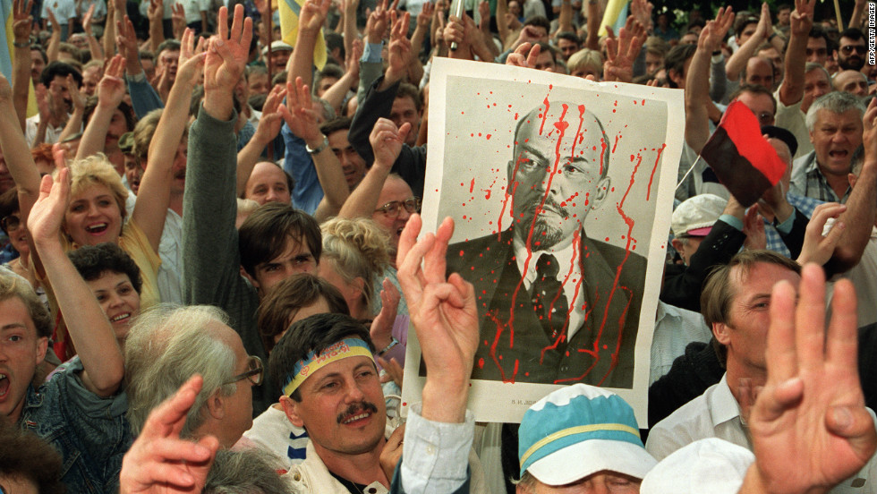In December 1991 a nationwide referendum was held. 90% of Ukrainian citizens voted for independence from the Soviet Union.
